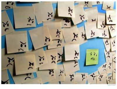 post-it notes bullying